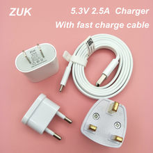 ZUK A5325 Charger Wall Adapter 100CM Noodle USB 3.1 Type C fast Data Cable for Lenovo S5 Z5 ZUK Z1 Z2 Pro Mobile phone 5.3V 2.5A(China)