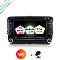 Funrover 7 In Dash Car Stereo 2 Din Navigation GPS Car DVD Player Head Unit Audio