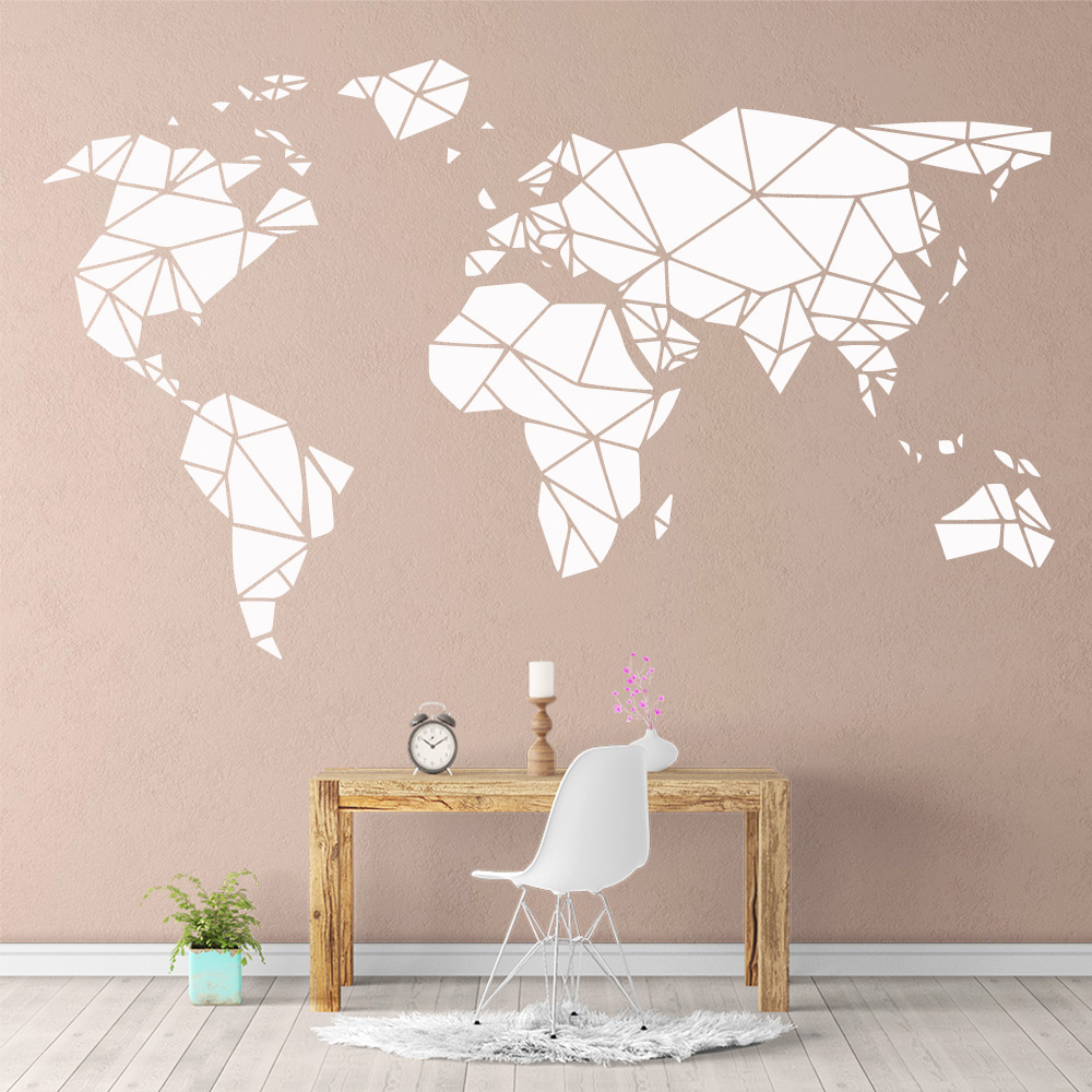 Creative world map wallstickers removable wall stickers - Childrens bedroom wall stickers removable ...