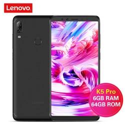 Lenovo K5 Pro 4G Smartphone 5.99'' Android 8.1/ ZUI Snapdragon 636 Octa Core 4GB/6GB 64GB 16.0MP Fingerprint 4050mAh Cellphones