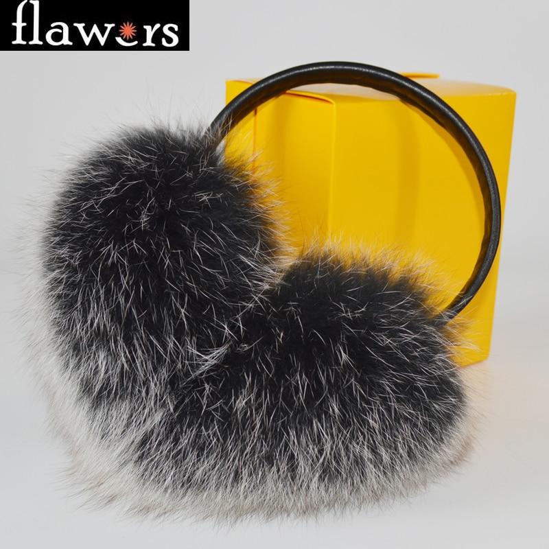 Men's Accessories Winter Women Warm Real Fox Earmuffs Girls Earlap Ultralarge Imitation Ladies Plush Ear Muff Raccoon Plush Earmuffs #2 Men's Earmuffs