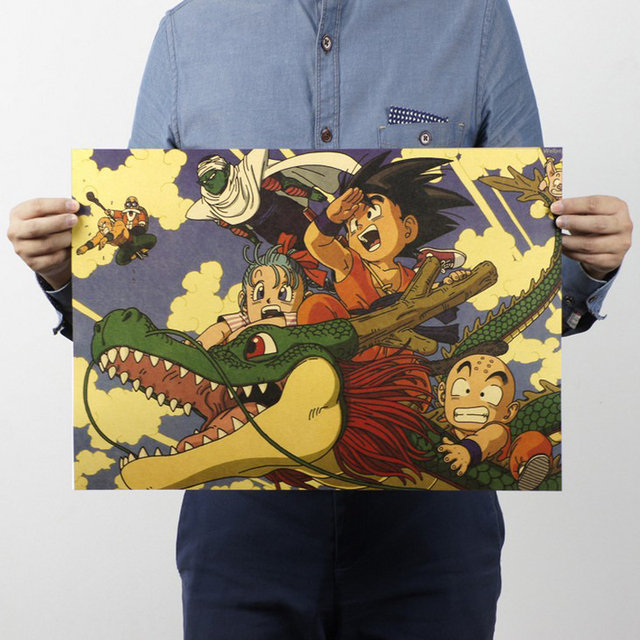 Free shipping,Dragon Ball/classic Cartoon movie Comic/kraft paper/bar poster/Retro Poster/decorative painting 51x35.5cm
