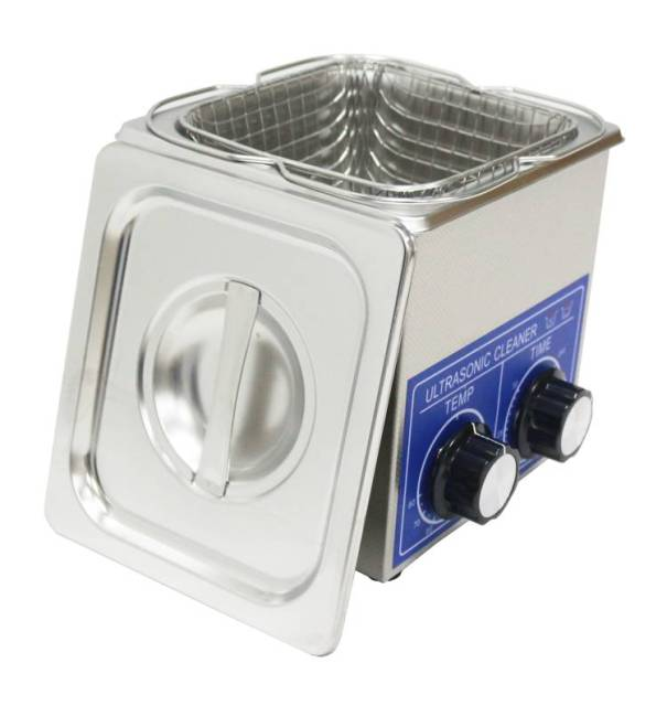 Ultrasonic Cleaner 2L 80W PS-10 Stainless Steel washing basket Knob Control Heating Ultrasonic Washing Machine cleaning