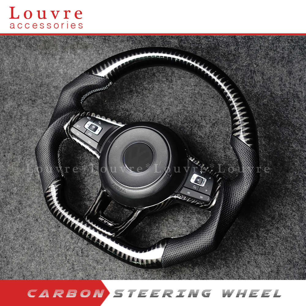 Racing Wheel Steering auto Per Golf 7 Golf R MK7 Passat Polo in fibra di carbonio volante