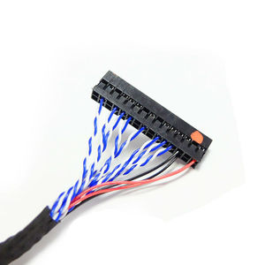 Image 4 - Universal LVDS Cable DF14 20 S6 20pin double Dual 2 ch 6 bit 20p 1.25mm for 12inch 15inch LCD panel