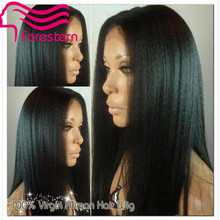 Italian Yaki Wig Brazilian Light Yaki Full Lace Wig & Lace Front Wig Glueless Human Hair Italian Yaki U Part Wig DHl Freeship