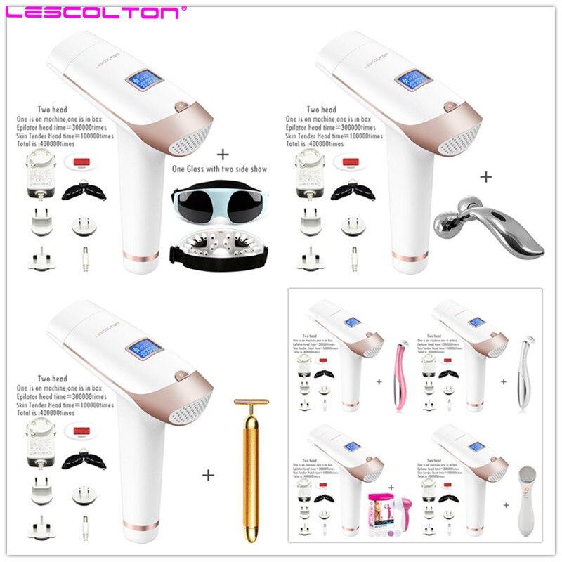 Lescolton 2 in 1 IPL Laser Hair Removal Machine Laser Epilator Permanent Depilator Electric 400000 Pulse Tender Skin ...