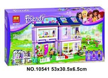 Bale10541 Friends series the Emmas House model Building Block set Classic Compatible Lepin girl Architecture toys