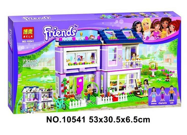 Bale10541 Friends series the Emmas House model Building Block set Classic Compatible font b legoed b