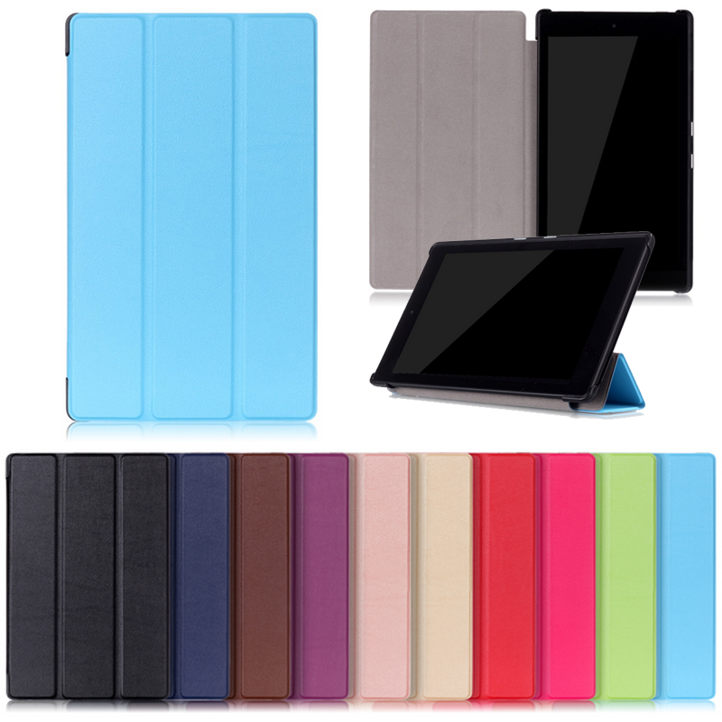 New Slim Folio Case PU Standing Protective Cover for Amazon kindle Fire HD8 HD 8 2016 6th Generation Tablet Case new kindle fire hd8 flip pu leather case cover colorful print luxury protective stand shell for amazon new kindle fire hd 8 2016