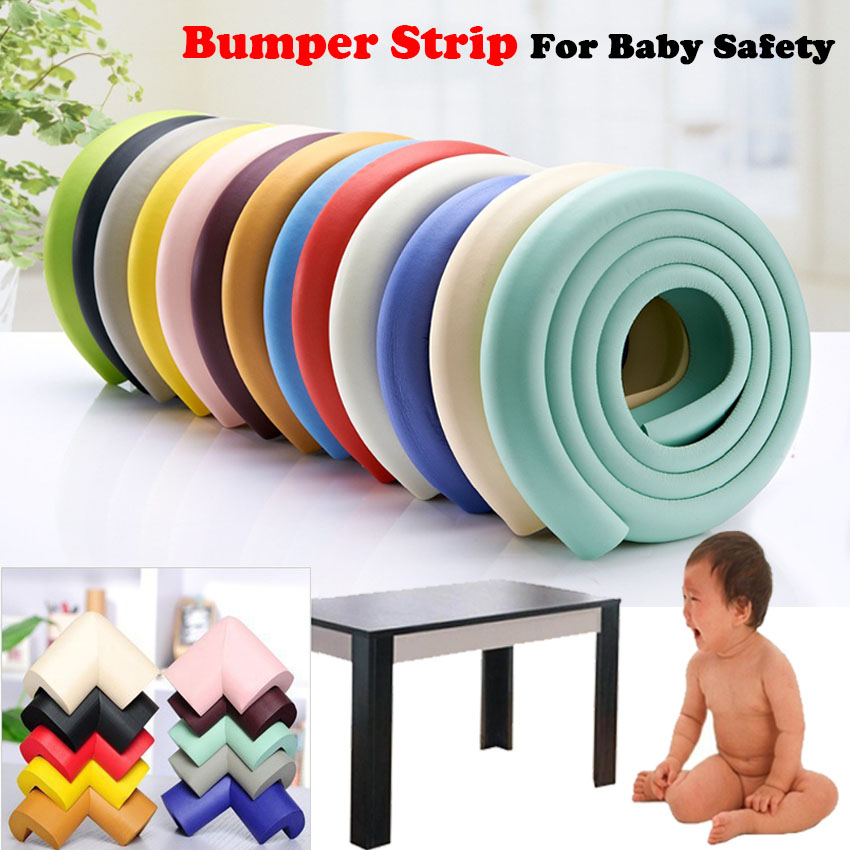 4Pcs Corner Guard & 2M Bumper Strips Glass Table Edge Furniture Corner Guards Cushion Strip Baby Safety Corner Protector