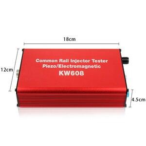 Image 2 - Ücretsiz kargo ve büyük satış! Kw608 çok fonksiyonlu dizel sabit basınçlı püskürtme enjektörü test Piezo enjektör test cihazı Usb enjektör test cihazı