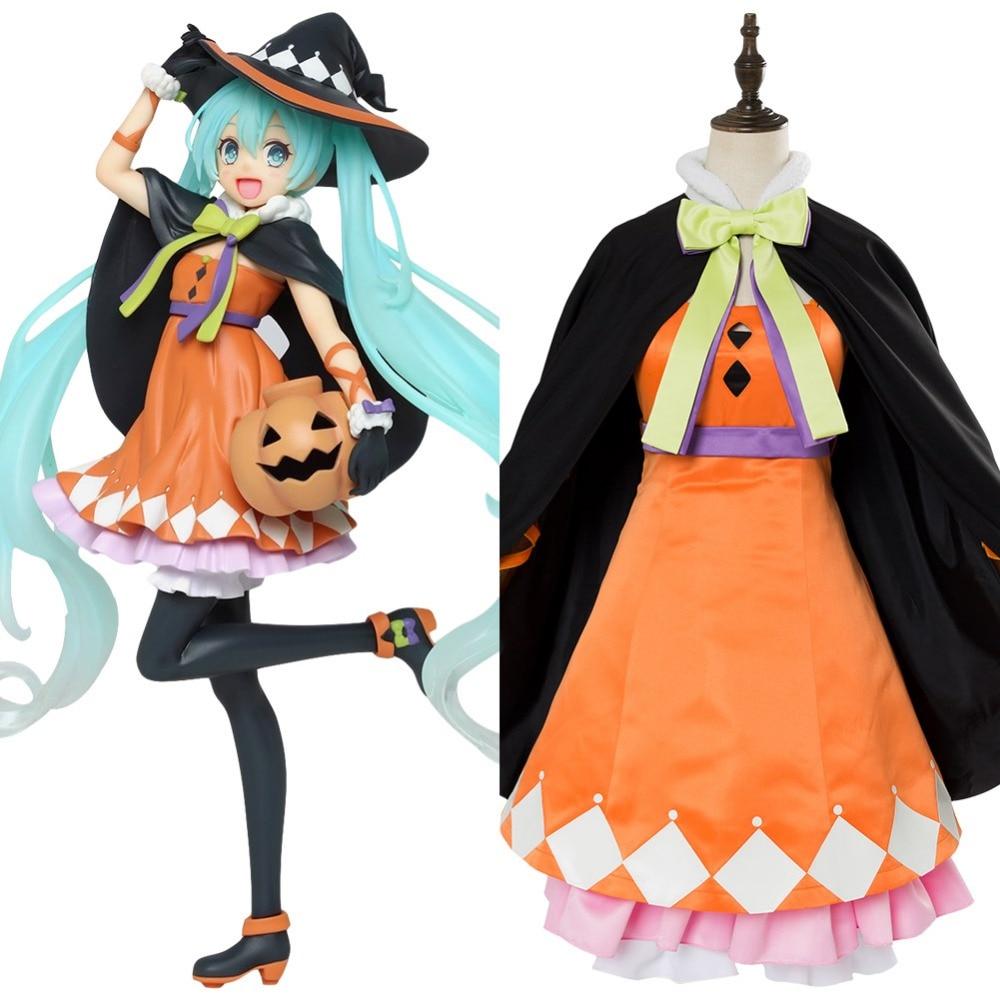 Hatsune Miku Vocaloid Anime Dress w/Tie Halloween /Cosplay