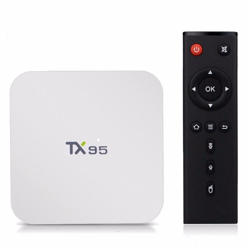Smart Android Tv Box TX95 2G 16G Android 6.0 TV Box S905X Quad Core 2,4G/5 Dual Wifi 16,1 Bluetooth 4,1 4 karat 1000 Mt PK X96 T95N