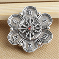 S925 sterling silver pendant vintage thai silver gau box pendant om mani padme hum pendant silver ruby pendant