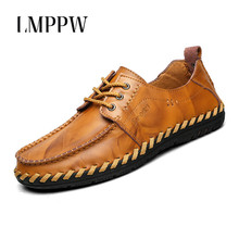 Купить с кэшбэком British Style Men Shoes Business Casual Leather Oxford Shoes New 2018 Autumn Lace Up Men Flat Shoes Handmade Men Casual Shoes 2A