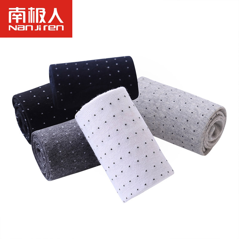 5 Pairs/lot 2017 New Design High Quality Mens Socks Cotton Socks Men Breathable Cool Little Dots Deodorant Calcetines Hombre