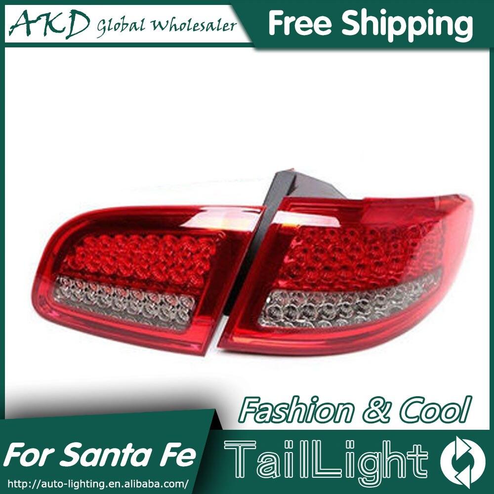 AKD Car Styling for Hyundai Santa Fe LED Tail Lights 2007-2013 New Santa Tail Light Rear Lamp DRL+Brake+Park+Signal