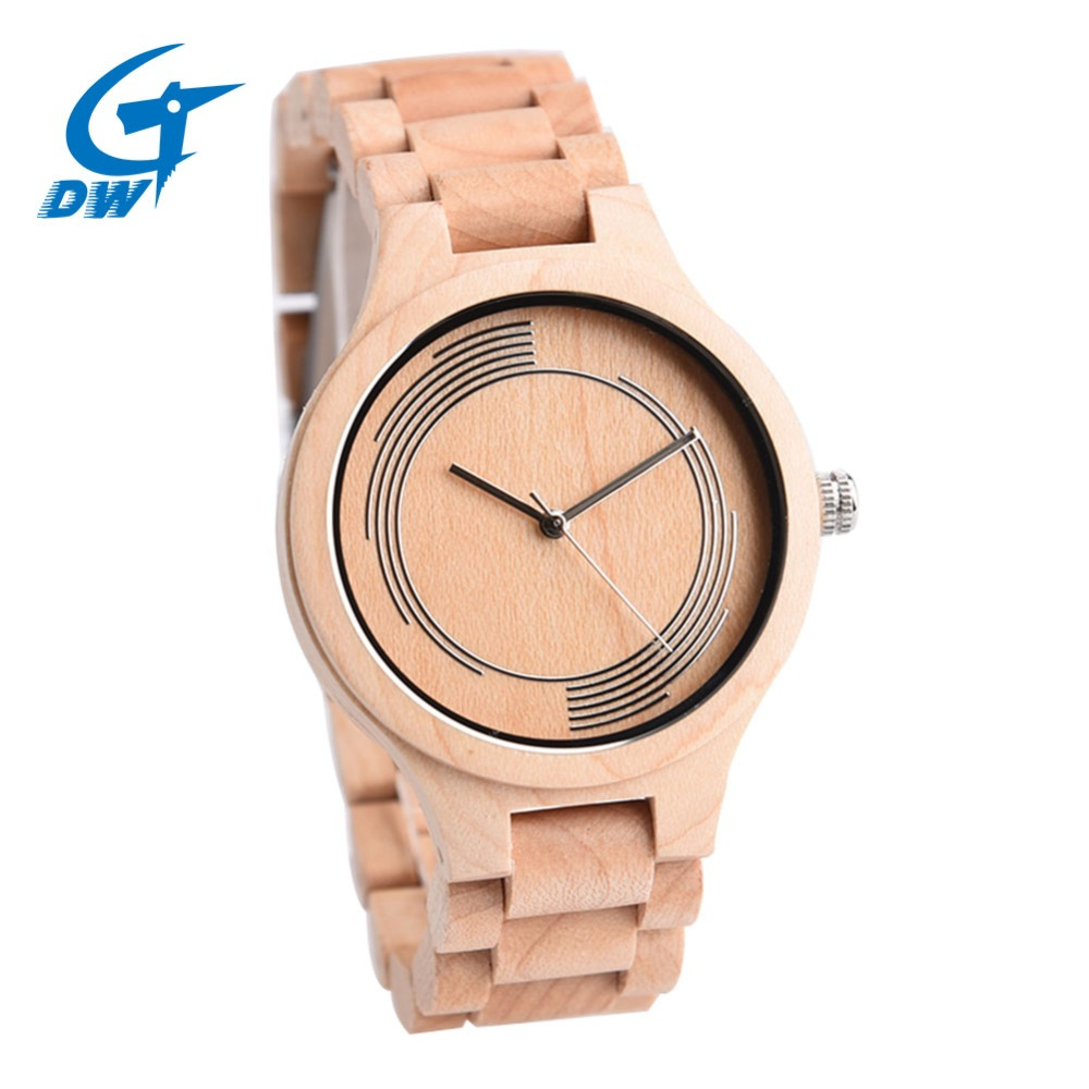 DWG Men Women Fashion Classic Full Wooden Watch Women Analog Quartz Wrist Watch Male Luxury Watches Solid Wood Hand Clock Strap luxury fashion wood watch for women simple design natural bamboo wooden casual quartz wrist watch men ladies clock