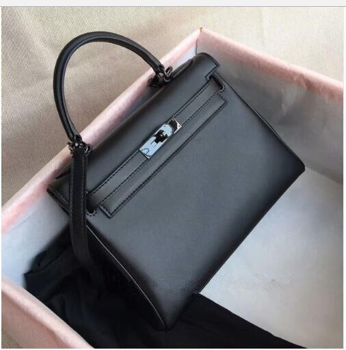 все цены на women classic big capacity plain leather totes luxury fashion brand woman handbags so black color 28cm 32cm