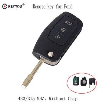 Chiave Telecomando per FORD Mondeo Focus Fiesta C Max S Max Galaxy 315/433 MHz 3 Tasti