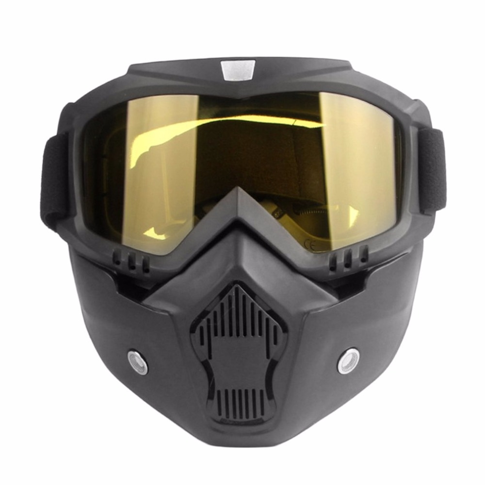 Motorcycle Unisex Vintage safety googles Cool Half Helmet Riding Mask Off-road Windproof Goggles with Adjustable Elastic Strap cool face mask with elastic strap white