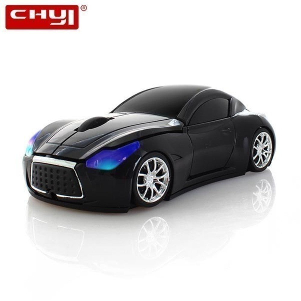 CHYI Wireless Car Shape Mouse Mini Optical Ergonomic Computer Mause 2.4Ghz 3D LED PC Mice With Usb Receiver For Laptop Macbook