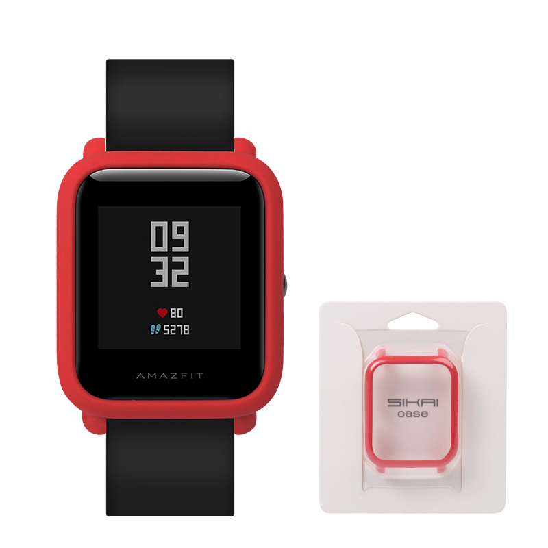 SIKAI Original Frame PC Case Cover for Xiaomi Amazfit Bip BIT PACE Lite Youth Watch Protect Shell for Huami Amazfit Watch (Red) цена 2017
