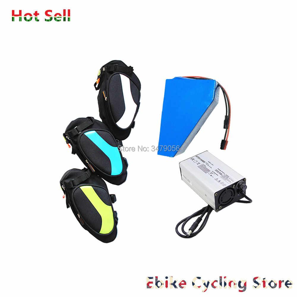 Free Shiping backup 36v 48v seat bag triangle battery 10ah 10.5ah 12ah 13ah 14ah 16ah 17ah for 250w 350w 500w motor battery
