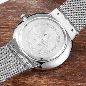 Image 5 - CURREN New Mens Quartz Relogio Masculinos Dial Clock Ultra thin Male Wrist Watch Calendar Waterproof Business Steel Watches