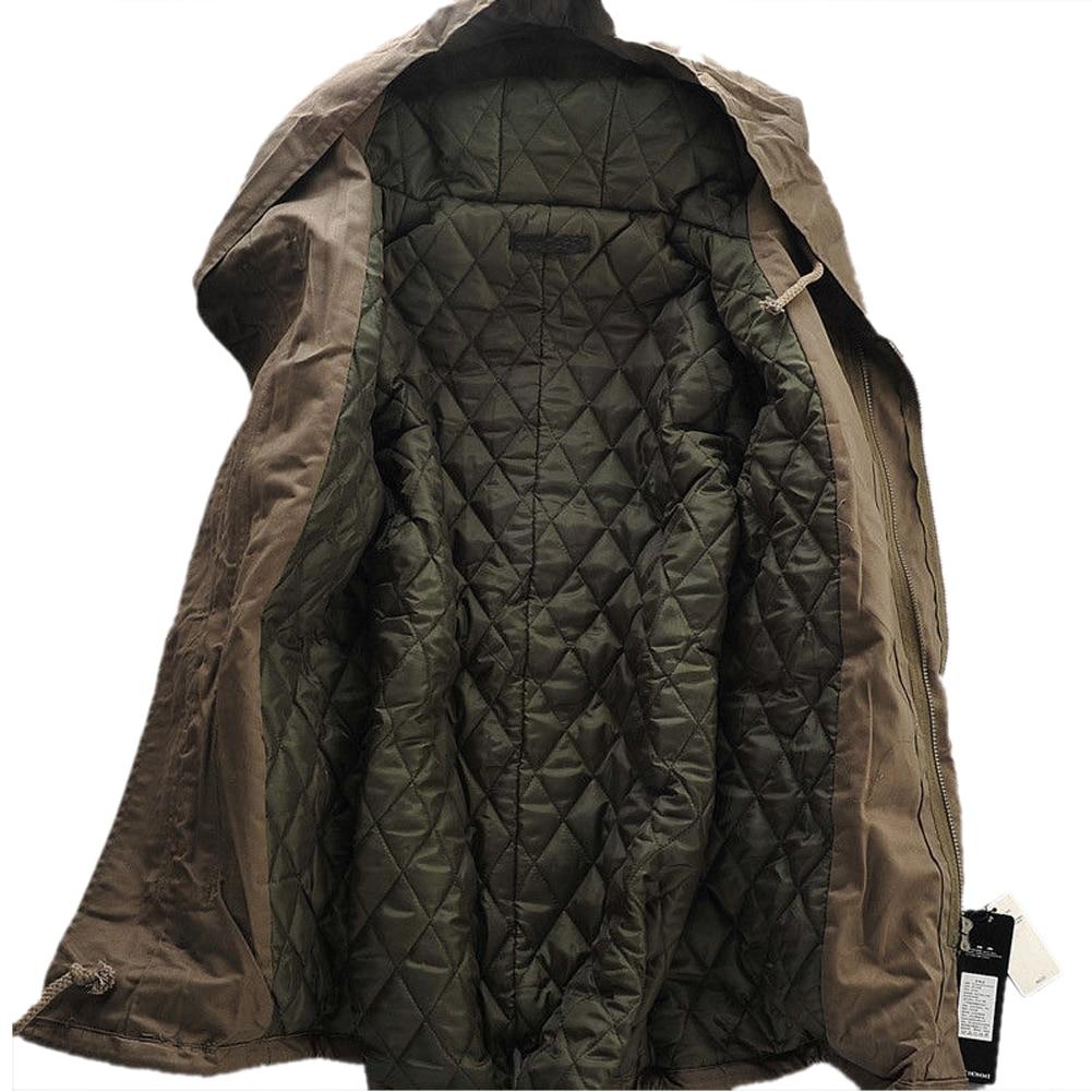 TFGS font b Jacket b font Stylish Hooded Canvas Cotton Warm Outwear Coat parka