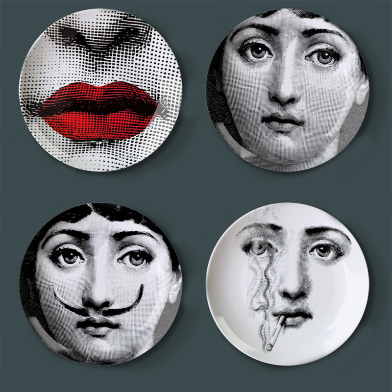 creative design fornasetti wall hanging decorative plate retro european elegant style kitchen decoration upscale home supply - Decorative Wall Plates