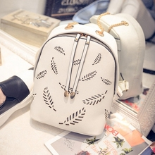 2015 New Fashion PU Leather Casual Travel Backpack Backpacks for Teenage Girls mochilas femininas Women Rucksack L684