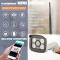 WIFI Segurança CCTV Megapixel 720 p HD Sem Fio Ao Ar Livre IP Cam Infravermelho IR Slot Para Cartão SD P2P onvif Bala câmera à prova d' água nvr