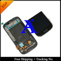 100% tested 4.8' Super AMOLED For Samsung Galaxy S3 neo LCD i9300i i9301 i9308i LCD Display  Digitizer Assembly with frame