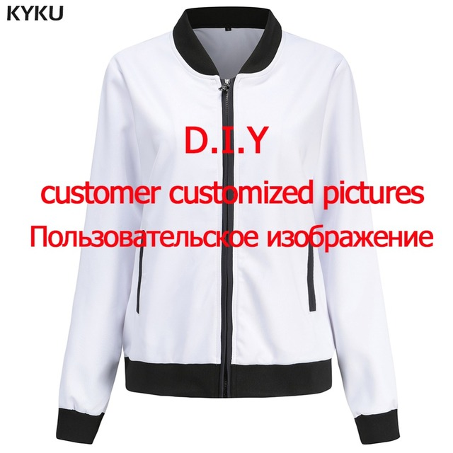 2a18aaea5 US $29.89 |KYKU Brand Customize Jacket Women Custom Pictures Jackets 3d  Print Coat DIY Punk Cool Womens Clothing New Tops-in Basic Jackets from ...