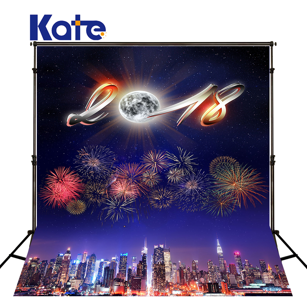 Kate Happy New Year Photo Backdrops City Firecracker Photo Background Photography Backdrop 2018 Printed Backdrops