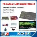 Крытый полноцветный видеостены электронный знак 640 * 1280 мм крытый из светодиодов табло 16 шт. P5 крытый гамма из светодиодов модули + DIY комплекты