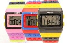אופנה קלאסי פלסטיק פופולרי דיגיטלי שעון סוכריות לילה אור למעלה פלאש מהבהב עמיד למים יוניסקס ג לי קשת מעורר שעונים