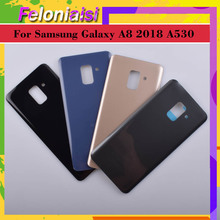 10Pcs/lot For Samsung Galaxy A8 2018 A530 SM-A530F A530F Housing Battery Door Rear Back Glass Cover Case Chassis Shell Replaceme смартфон samsung galaxy a8 2018 sm a530f 32gb black