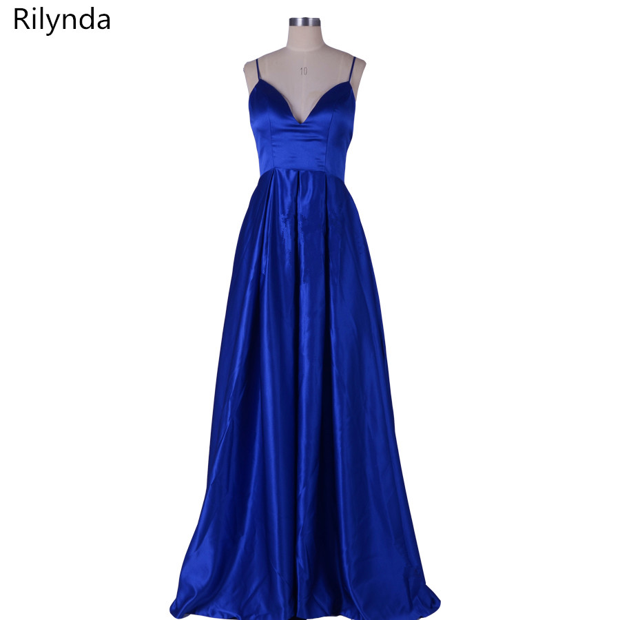 Royal Blue Long Evening Dress New Arrival Elegant Sexy Backless Women Formal Dresses For Wedding Guest Cotillon Party