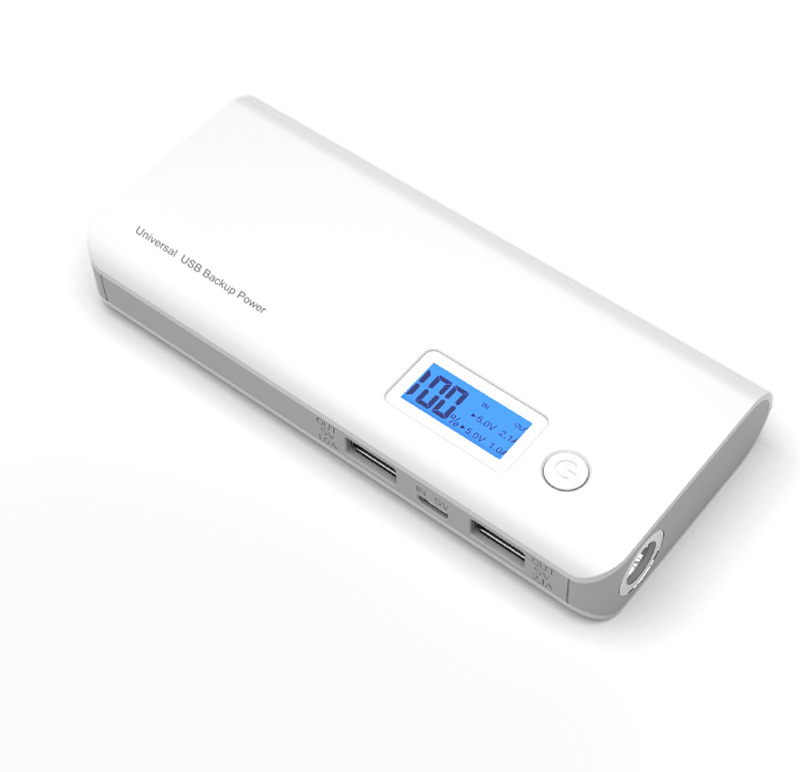 DCAE Real 12000mah Power Bank Dual USB LCD Display External Battery powerbank portable Charger For Sony