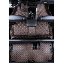 цена на lsrtw2017 leather car interior floor mat for mitsubishi outlander 2013 2014 2015 2016 2017 2018 2019 7 seats 3rd rows mat