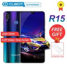 Orijinal Cubot R15 MT6580P Dört Çekirdekli Android 9.0 8MP + 2MP/5.0MP Smartphone 2 GB RAM 16 GB ROM parmak izi 3G Cep Telefonu ...