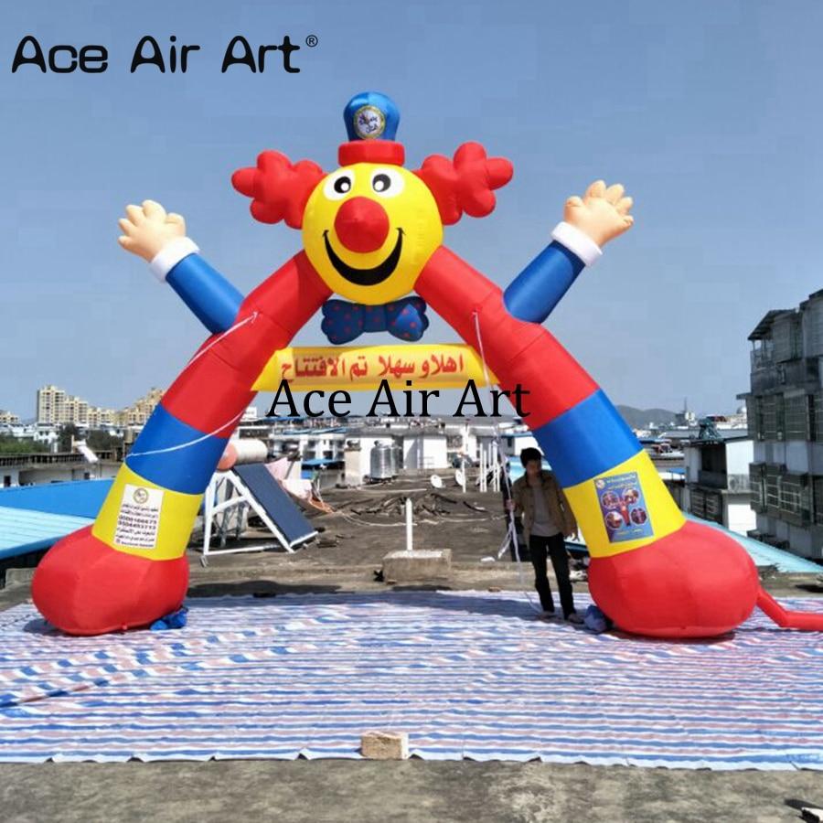 Creative and colorful Inflatable clown arch air clown wel e arcway