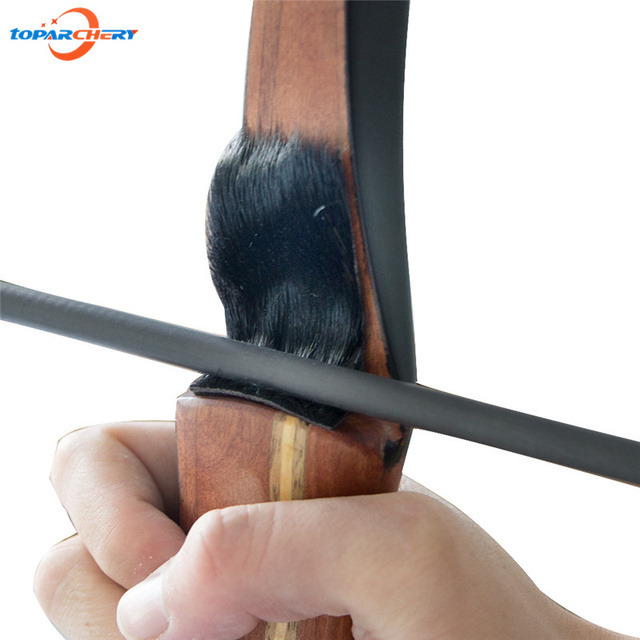 Recurve Long Bow Archery Arrow Rest with Black Seal Skin Material for Left Right Hand Archery Hunting Shooting Games Accessories