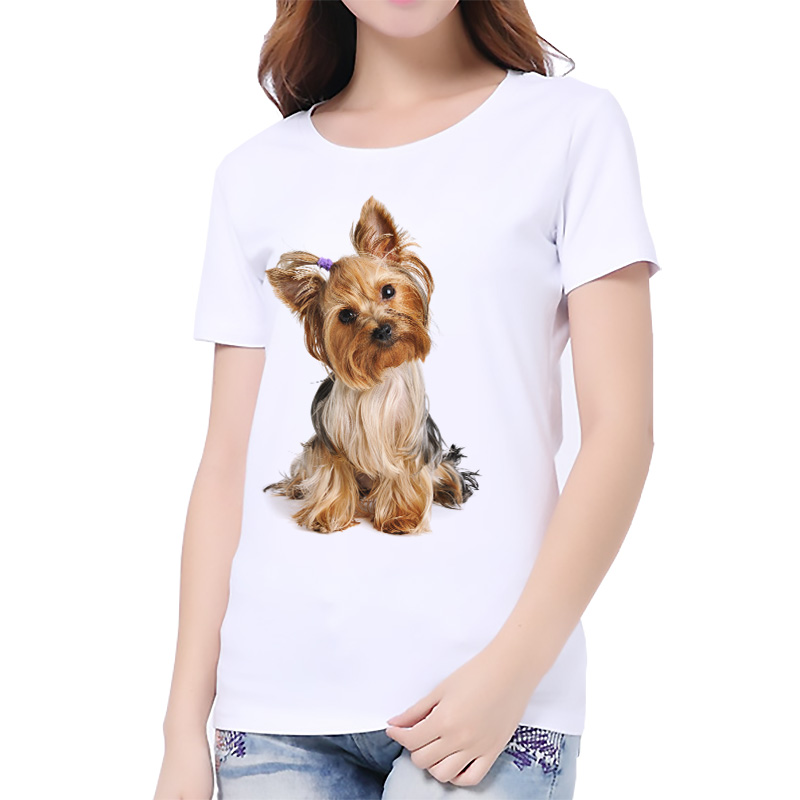 Loose short sleeve printed tshirt for women for Dog t shirt for after surgery