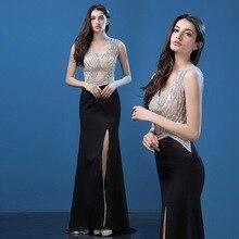 Star red carpet banquet dress, long autumn dance, auto show, evening dress, catwalk show, hostess
