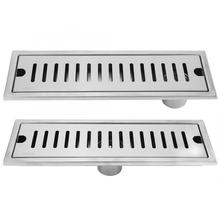 Large Flow Floor Drain Stainless Steel Rectangle Shower Drainer Bath Drains Strainer Drainage Gully Hair Catcher Stopper