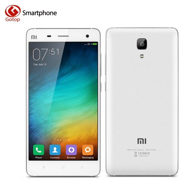 Оригинал Xiaomi Mi4 Mi 4 5.0 дюйма Snapdragon 801 Quad Core Xiaomi Сотовый Телефон, Ram 3 ГБ + Rom 64 ГБ 1920*1080 3000 МАч